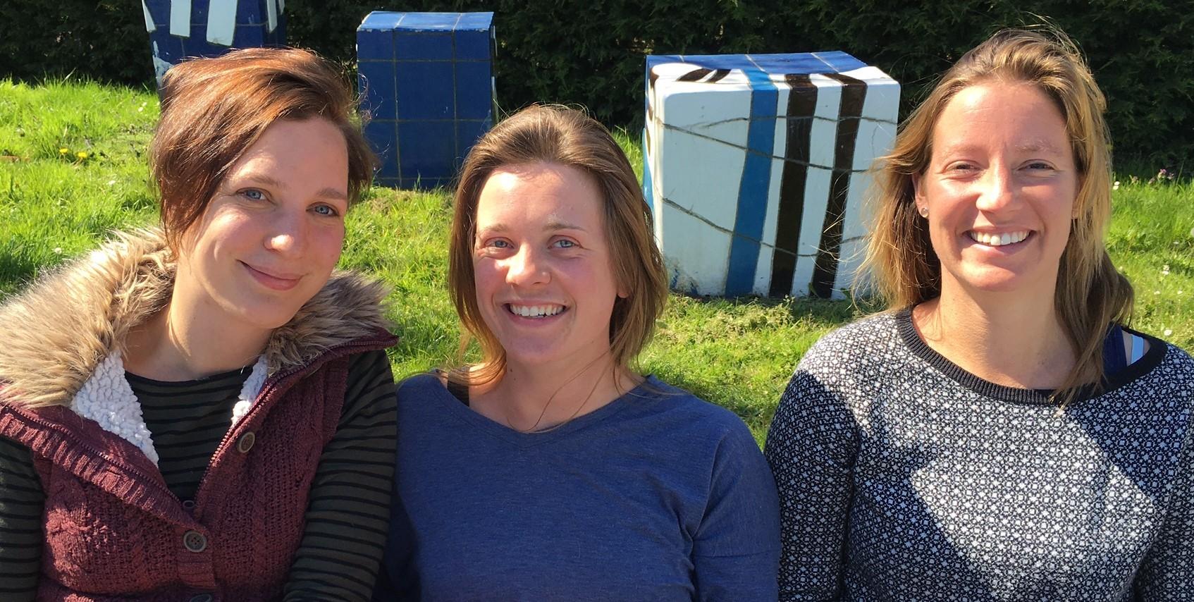 Renate de Boer, Leanne Spee en Jennifer Stroo